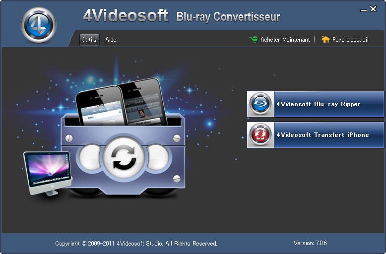 4Videosoft Blu ray Convertisseur full screenshot