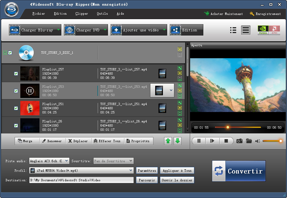 4Videosoft Blu-ray Ripper screenshot