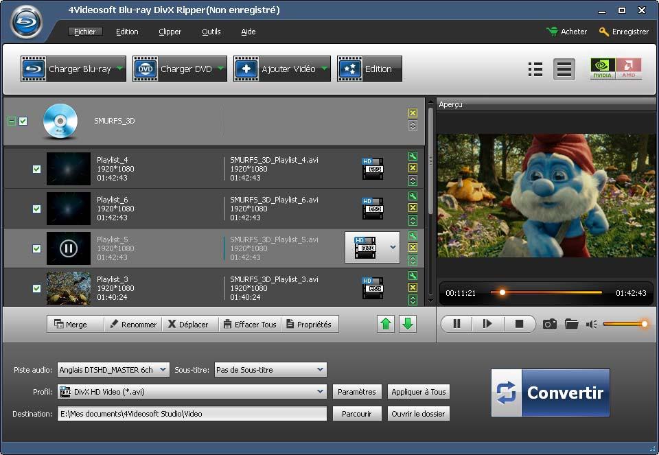 4Videosoft Ripper Blu-ray en DivX screenshot