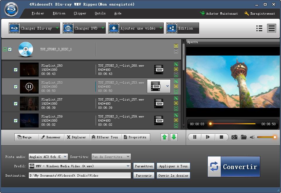 4Videosoft Ripper Blu-ray en WMV screenshot