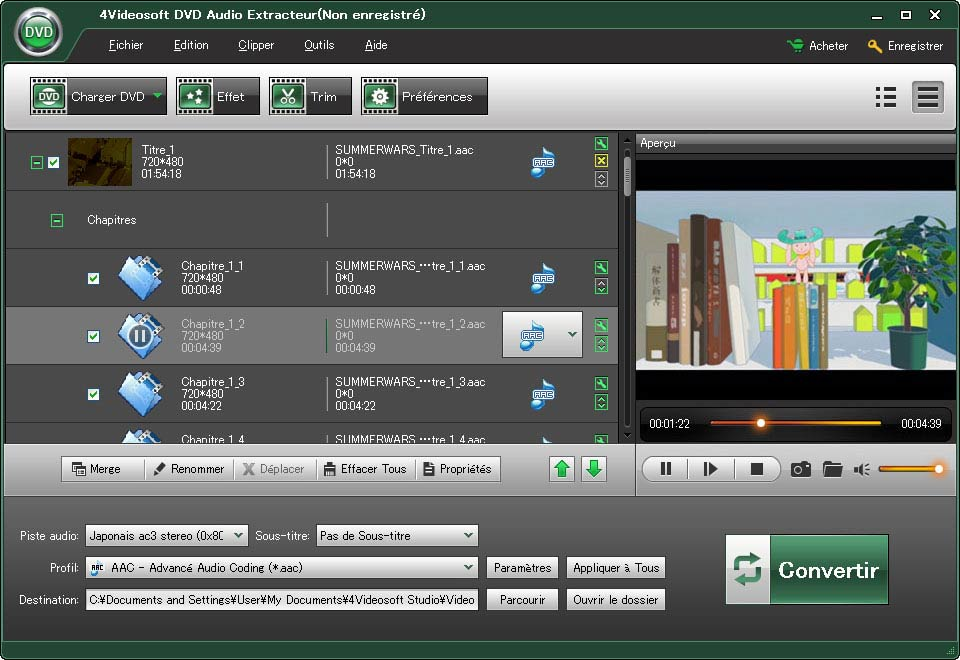 4Videosoft DVD Audio Extracteur full screenshot