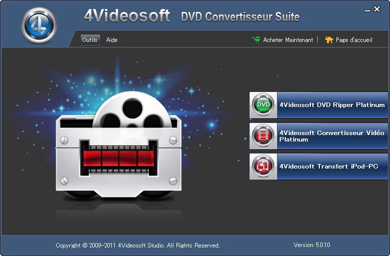 Windows 7 4Videosoft DVD Convertisseur Suite 3.3.18 full