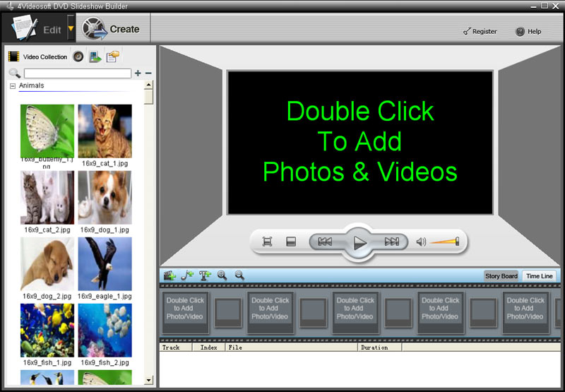 4Videosoft Création de diaporama pour DVD screenshot