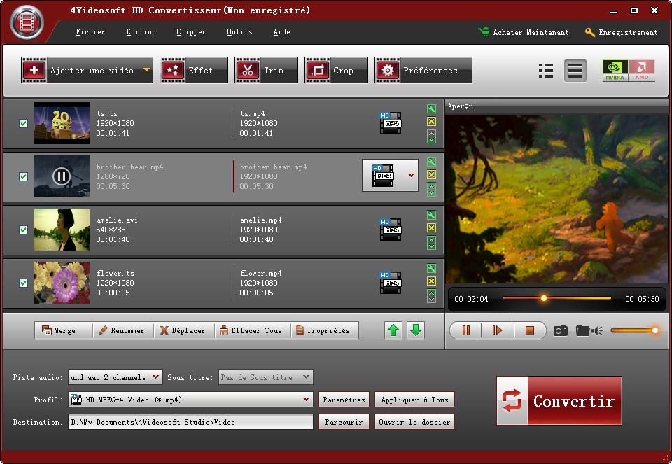 Click to view 4Videosoft HD Convertisseur 3.3.12 screenshot
