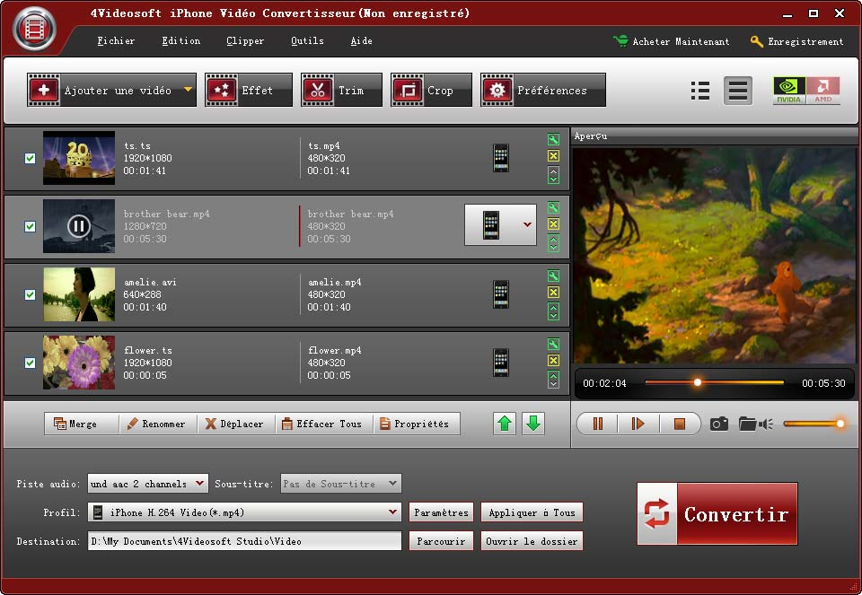 4videosoft convertisseur vid o iphone full windows 7 screenshot windows 7 download. Black Bedroom Furniture Sets. Home Design Ideas