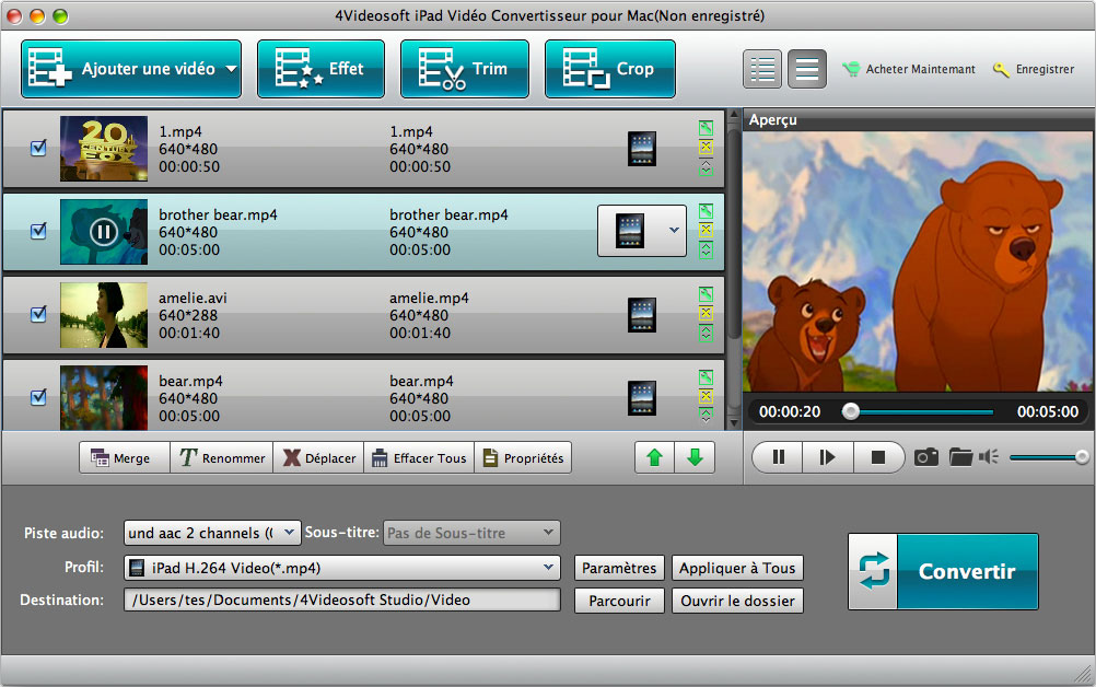 convert any popular video formats on Mac