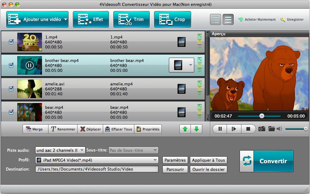 4Videosoft Convertisseur Vidéo pour Mac screenshot