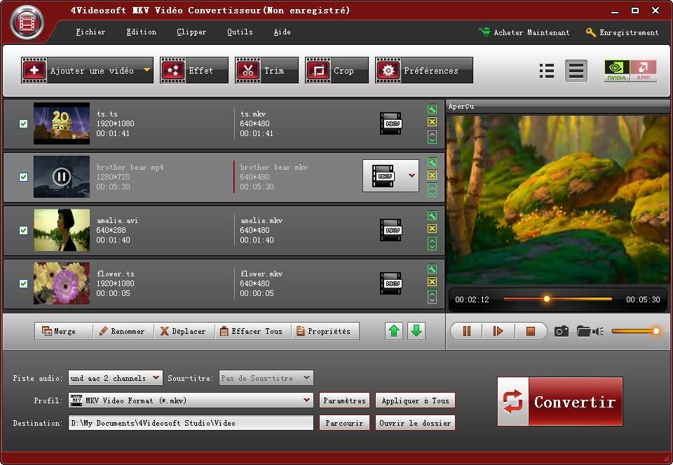 Windows 7 4Videosoft MKV Vidéo Convertisseur 5.0.28 full