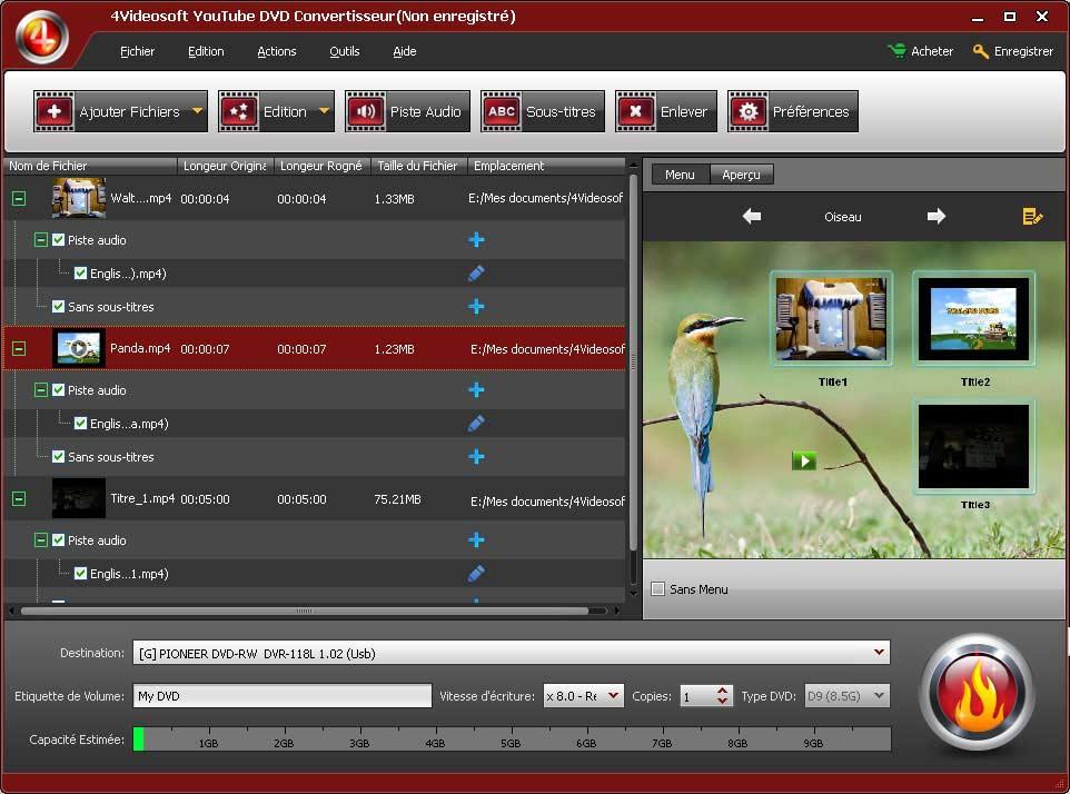 youtube dvd convertisseur convertir graver youtube en dvd. Black Bedroom Furniture Sets. Home Design Ideas